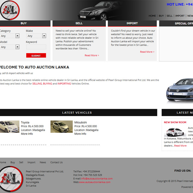 auto mobile website for online sale