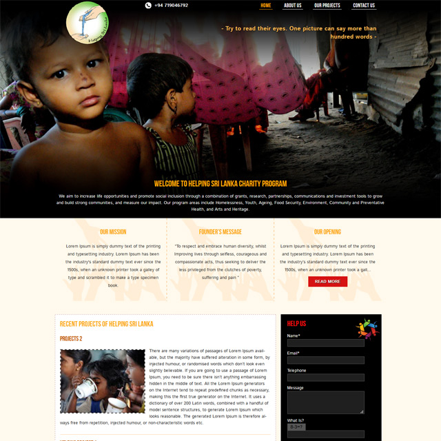 charity & helping people web development