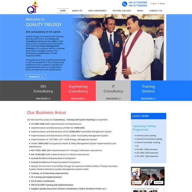 website development & SEO for a consultancy company