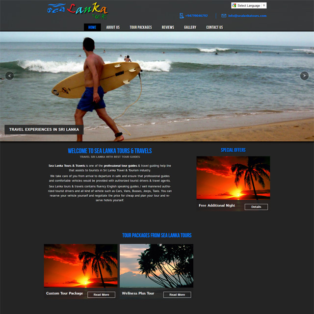 tourism responsive simple website