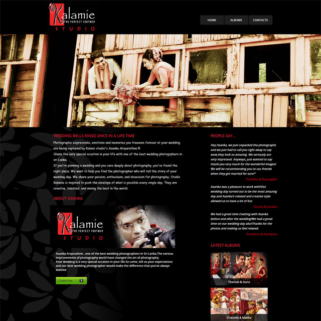 photography website developed by Webs lanka