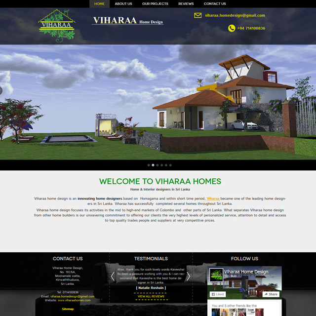 Web design for a home & interior design