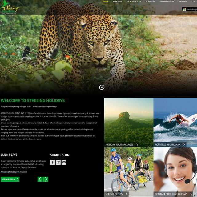 Sterling holidays website tourism
